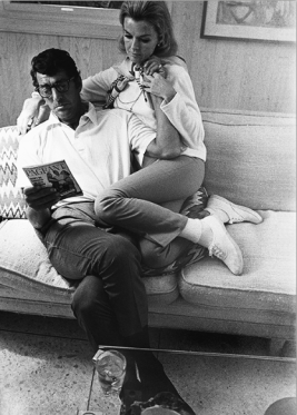 Dean Martin with his wife Jeanne at home, c. 1966. Photo by Martin Mills.